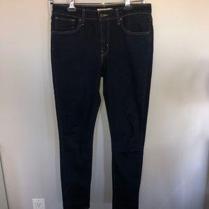 Levi's Dark Wash High Rise Skinny Jean